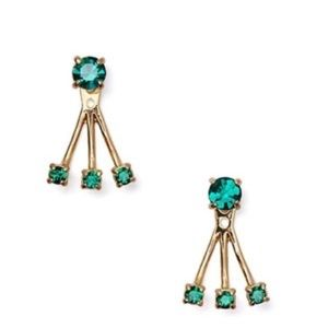 Kate Spade - NWT Emerald Dainty Sparklers Earrings